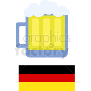 vector Oktoberfest beer mug clipart. Commercial use image # 410709