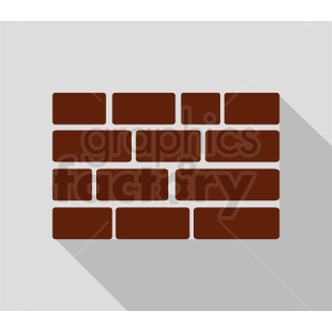 red brick wall vector icon design clipart. Commercial use image # 410748