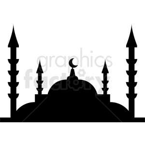 mosque vector silhouette design clipart. Commercial use image # 410753