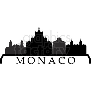 vector monaco city clipart. Commercial use image # 410760
