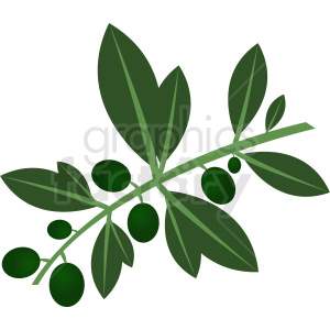 olive branch clipart. Royalty-free image # 410788