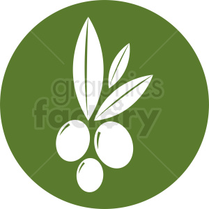 olives vector icon on circle background clipart. Commercial use image # 410794