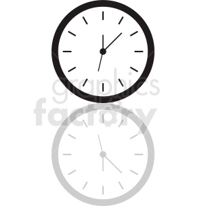 vector clock clipart with shadow clipart. Royalty-free image # 410818