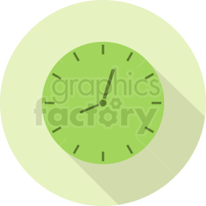 lime green clock on circle background clipart. Commercial use image # 410836
