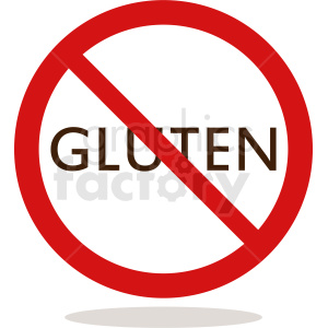 no gluten vector icon symbol clipart. Commercial use image # 410868