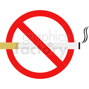 no cigarettes icon clipart. Commercial use image # 410878
