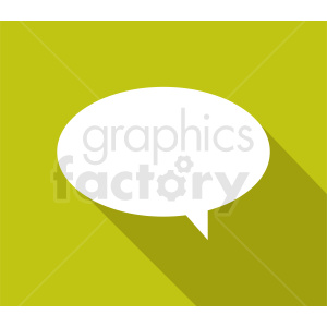 speech bubble vector clipart on yellow background clipart. Commercial use image # 410883