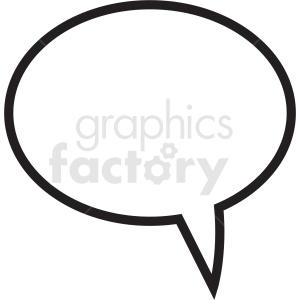 speech bubble outline vector clipart no background clipart. Commercial use image # 410890