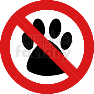 no pets vector symbol design clipart. Royalty-free image # 410894