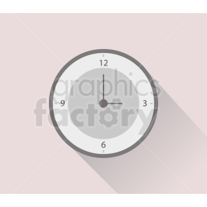 wall time clock vector clipart clipart. Royalty-free image # 410924