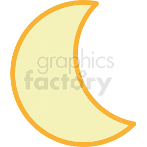 moon vector icon clipart. Royalty-free image # 410947