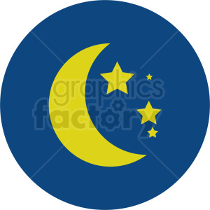 night sky vector icon clipart. Commercial use image # 410970