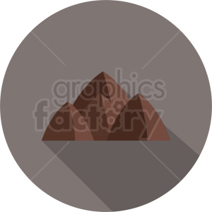 mountains vector icon on dark circle background