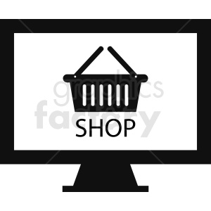 online shopping clipart clipart. Royalty-free image # 411008