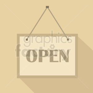 open sign cartoon design clipart. Royalty-free image # 411029