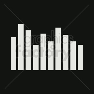 bar chart on black background clipart. Commercial use image # 411040