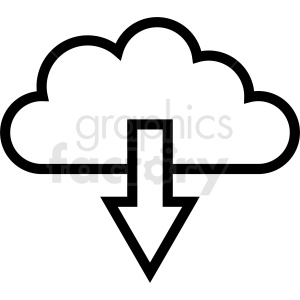 download cloud icon clipart. Royalty-free image # 411045