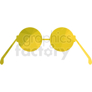 yellow sunglasses vector clipart clipart. Royalty-free image # 411069
