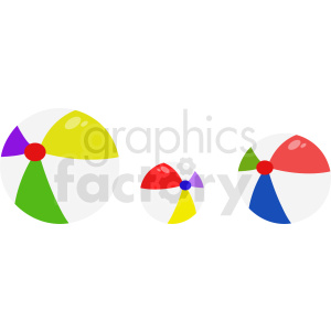 three beach balls clipart clipart. Commercial use image # 411089