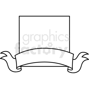 doodle notes elements square with banner clipart. Commercial use image # 411139