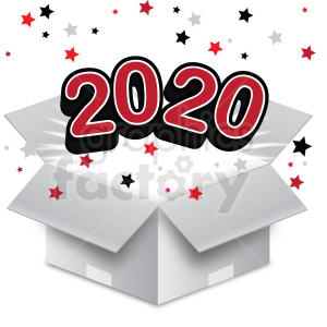 year new years 2020 clipart. Commercial use image # 411165