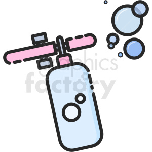 cartoon bubble gun vector clipart clipart. Commercial use image # 411219