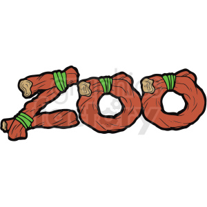 cartoon zoo typography vector clipart clipart. Royalty-free image # 411260