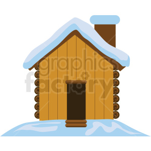 wood cabin flat vector icon clipart. Royalty-free image # 411267