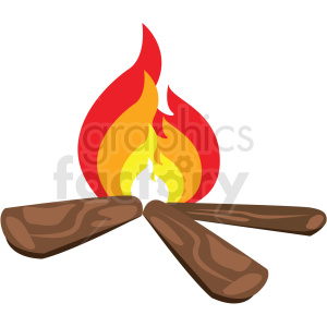 camping fire flat vector icon clipart. Commercial use image # 411277