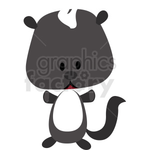 baby cartoon skunk vector clipart clipart. Royalty-free image # 411363