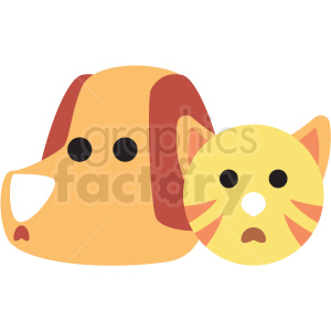 cartoon cat and dog vector clipart clipart. Commercial use image # 411403