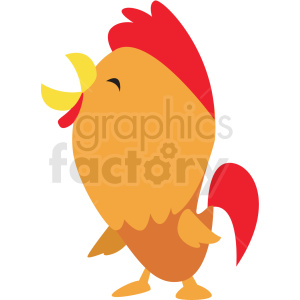 baby cartoon rooster vector clipart clipart. Royalty-free image # 411405
