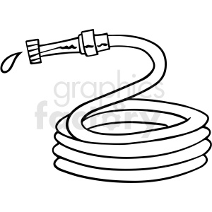 cartoon water hose black white vector clipart clipart. Commercial use image # 411483