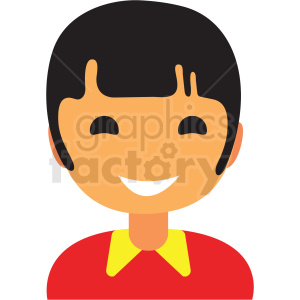 boy avatar icon vector clipart clipart. Commercial use image # 411528