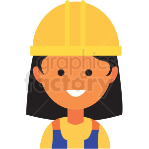 female construction worker emote icon vector clipart clipart. Commercial use image # 411548