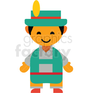 male German character icon vector clipart clipart. Royalty-free image # 411600