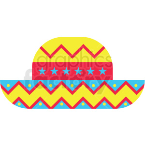 mexican hat vector clipart clipart. Royalty-free image # 411628