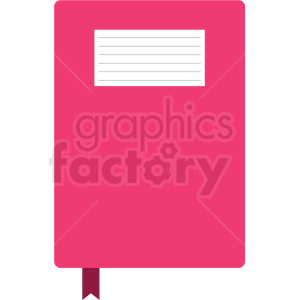 pink journal vector clipart clipart. Commercial use image # 411673