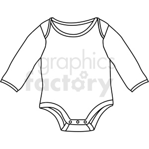 black white baby onesie icon vector clipart clipart. Royalty-free image # 411690