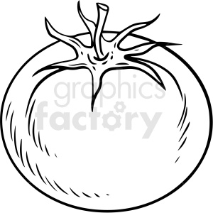 black and white cartoon tomato vector clipart clipart. Commercial use image # 411727