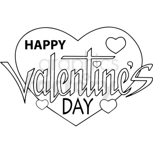 happy valentines day cartoon vector clipart clipart. Commercial use image # 411778
