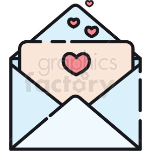 love envelope vector icon clipart. Commercial use image # 411783