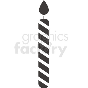 birthday candle vector clipart