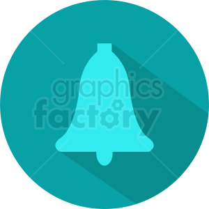 aqua bell vector circle icon clipart. Royalty-free image # 411963