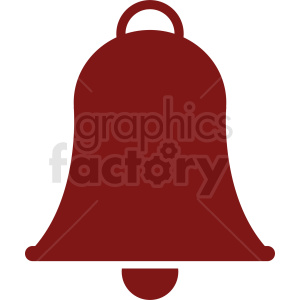 red bell vector shape clipart. Commercial use image # 411980