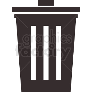 trash can vector icon clipart. Royalty-free image # 411985
