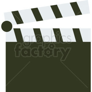 flat icon clapperboard design clipart. Royalty-free image # 412010
