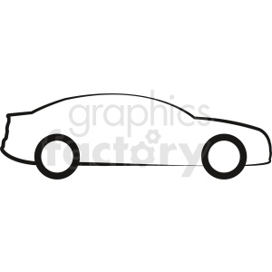 car outline vector clipart clipart. Commercial use image # 412030