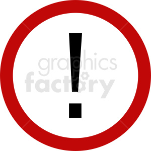 exclamation point sign vector clipart. Royalty-free image # 412063