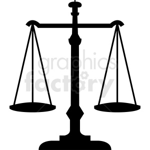 black and white scales of justice vector clipart